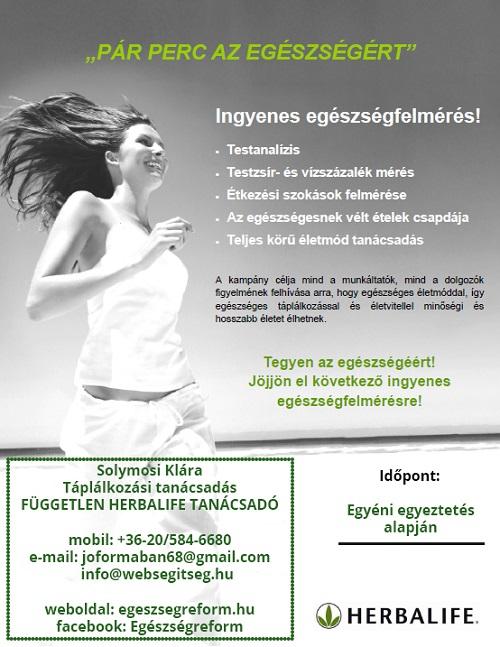 egészségfelmérés plakát