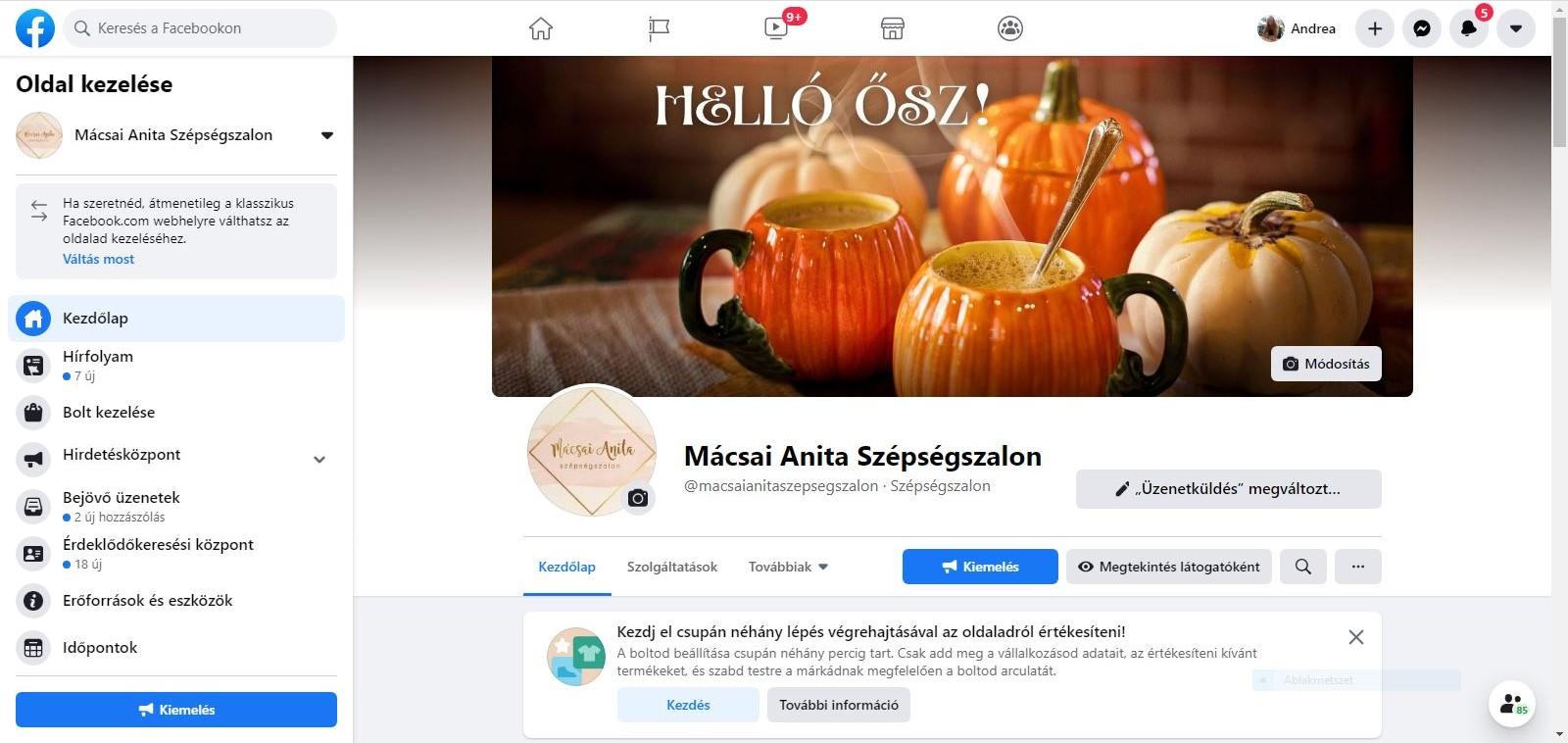 Mácsai Anita Szépségszalon Facebook